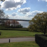 The hotel is opposite Rutland Water